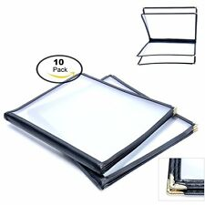10 Pack 4 Page Fold 8 View Menu Covers Book For Restaurant Cafe 85 X 11 Inch