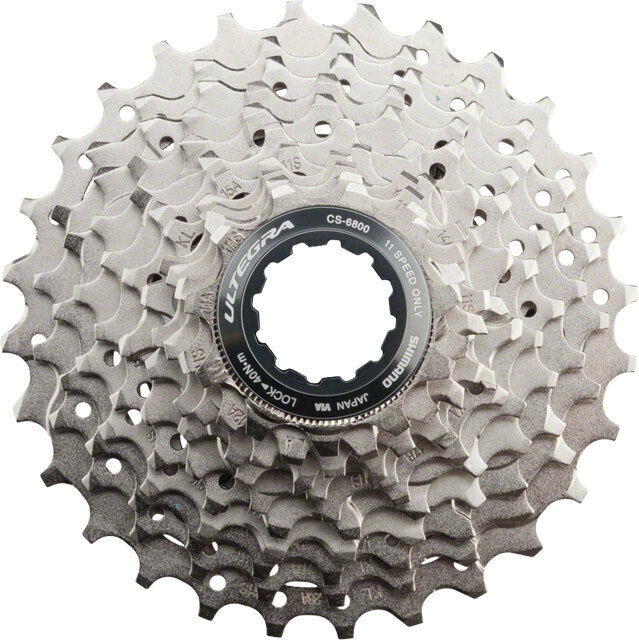 SHIMANO ULTEGRA 6800 11-SPEED NICKEL PLATED 11-23T ROAD BICYCLE CASSETTE