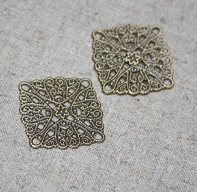 Thin slice square filigree – pack of 20