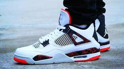 2019 Nike Air Jordan 4 Retro 11.5 Flight Nostalgia Hot Lava Crimson 308497 116   eBay