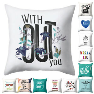 Am-KF-Letter-Dream-Big-Heart-Pillow-Case-Cushion-Cover-Sofa-Bed-Car-Cafe-Decor