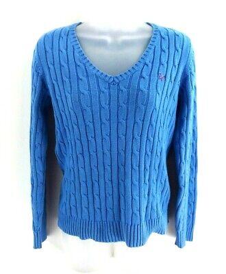 Bellissimo Crew Abbigliamento Da Donna Maglione Pullover 10 Blu Cotone-mostra Il Titolo Originale Superiore (In) Qualità