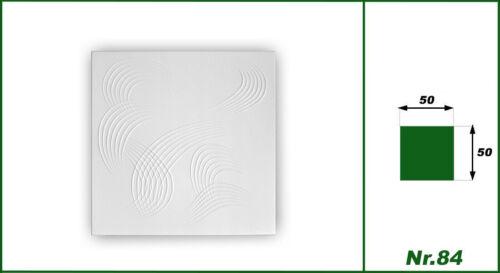 40 Qm Panneaux pour Plafond Plaques en Polystyrène Déco Modelage 50x50cm Nr.84
