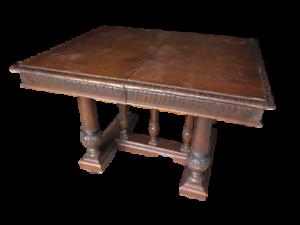 Tavolo-in-noce-allungabile-in-stile-rinascimento-primi-900-molto-bello