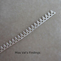 6 Inches Sterling Silver Bezel Wire With Gallery Design 2.5mm