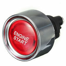 Compitition quality Engine Start Push Button Switch Ignition Starter Kit red LED