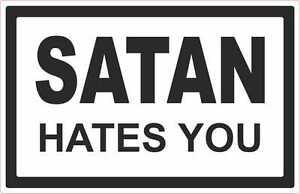 Satan-hates-you-Aufkleber-Black-Metal-Antichrist-666-Satanaufkleber-Immortal