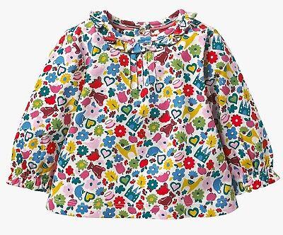 BABY GIRLS EX MINI BODEN HOTCHPOTCH JERSEY FLOWER TOP TSHIRT 2-3 3-4 years