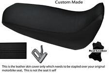 BLACK STITCH CUSTOM FITS YAMAHA XT 125 R X 05-12 REAL LEATHER SEAT COVER