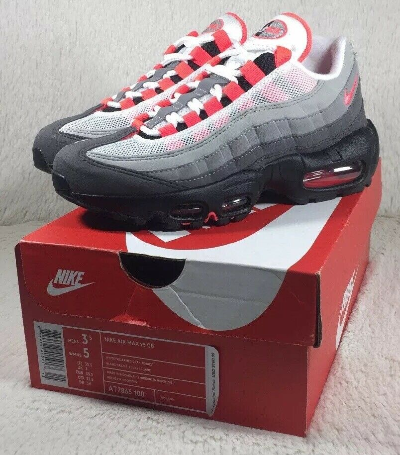 NEW Nike Air Max 95 OG shoes Womens Solar Red Athletic Running AT2865-100 Size 5