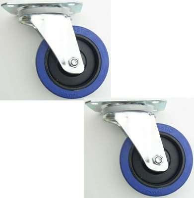 4 Stück 160 mm SL Lenkrollen Blue Wheels Transportrollen Schwerlastrollen 300 kg