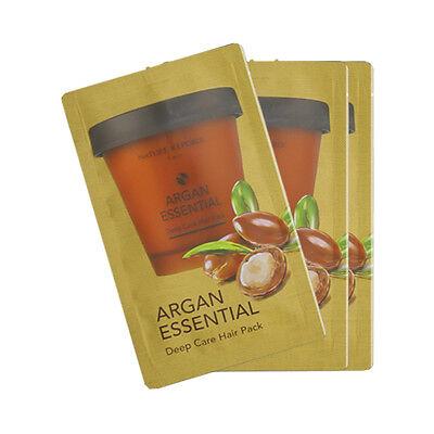 [NATURE REPUBLIC] Argan Essential Deep Care Hair Pack Samples - 15ml x 3pcs