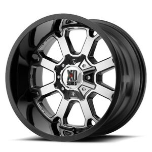 Image Is Loading  Inch Chrome Black Rims Wheels Lifted Ford