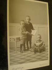 Cdv cabinet photograph children book toys Schmidt at Reichenbach Germany 1900s