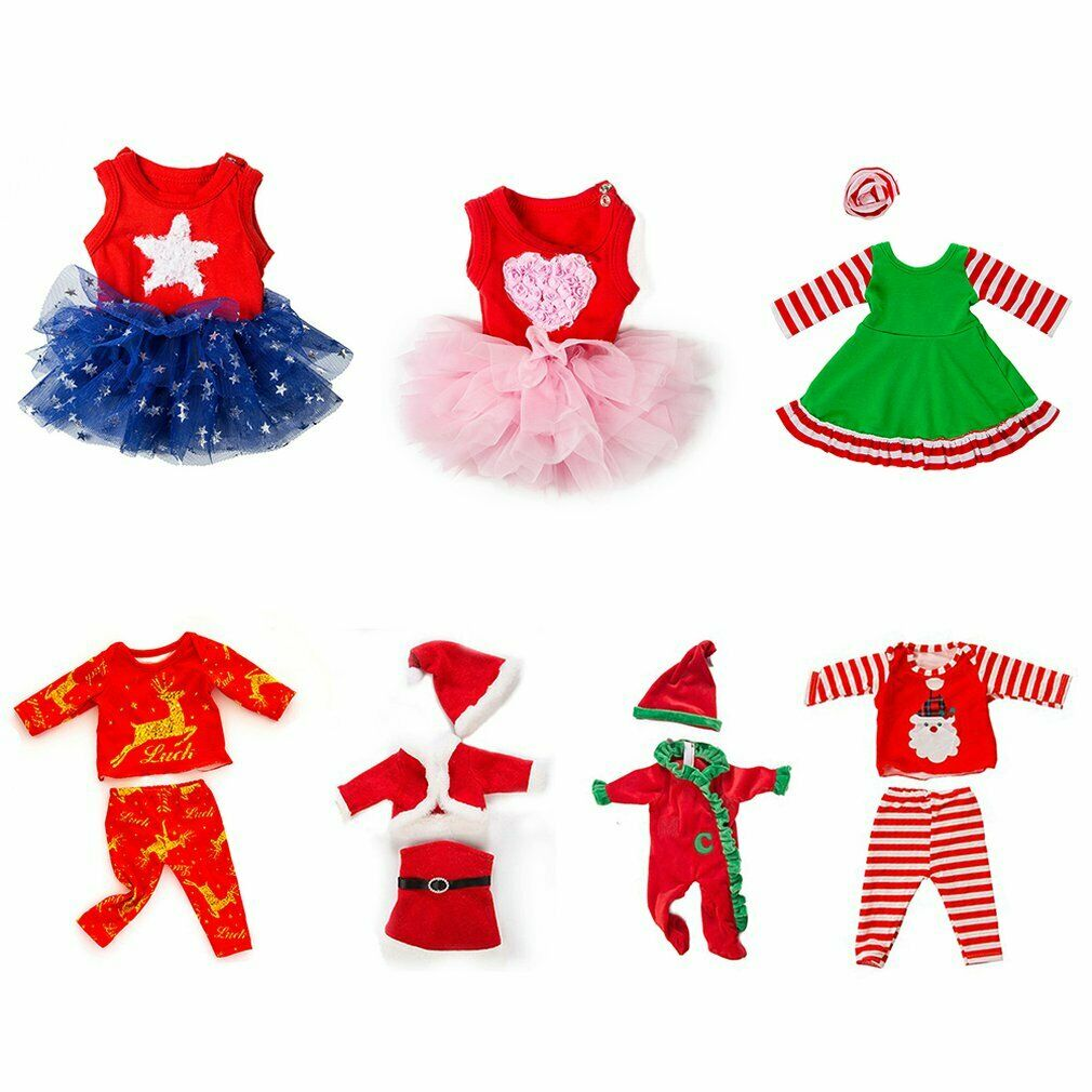 50cm Christmas Doll Clothes 18 Inch American Girl Clothes Doll Clothes `