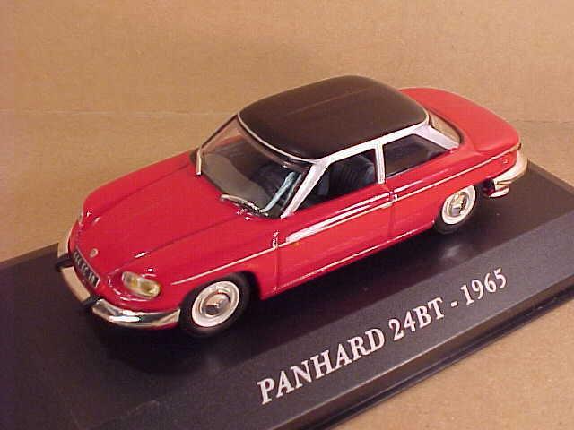 Altaya 1  43 de Metal 1965 Panhard 24bt Coup rough 65533; con   LHD, röd svkonst Techo 35;Afcy16
