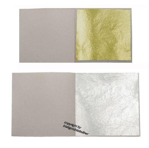20 Blatt Echtes Blattgold 3,8x3,8cm 23 Karat 20 Blatt Echt Blattsilber 5x5cm