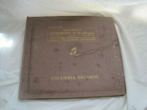 COLLECTION-78-039-s-10-034-SHELLAC-Records-CLASSICAL-Beethoven-SYMPHONY-No-2-Folder