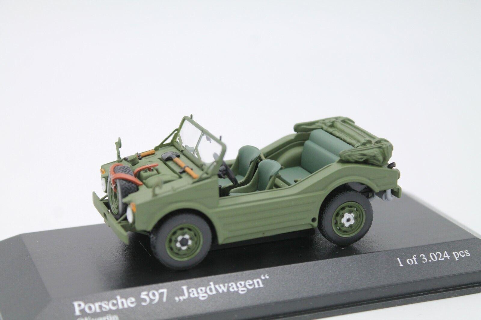 alta calidad Minichamps  porsche 597 caza Cochero Cochero Cochero  1 43  OVP verde oliva   1954  ventas al por mayor