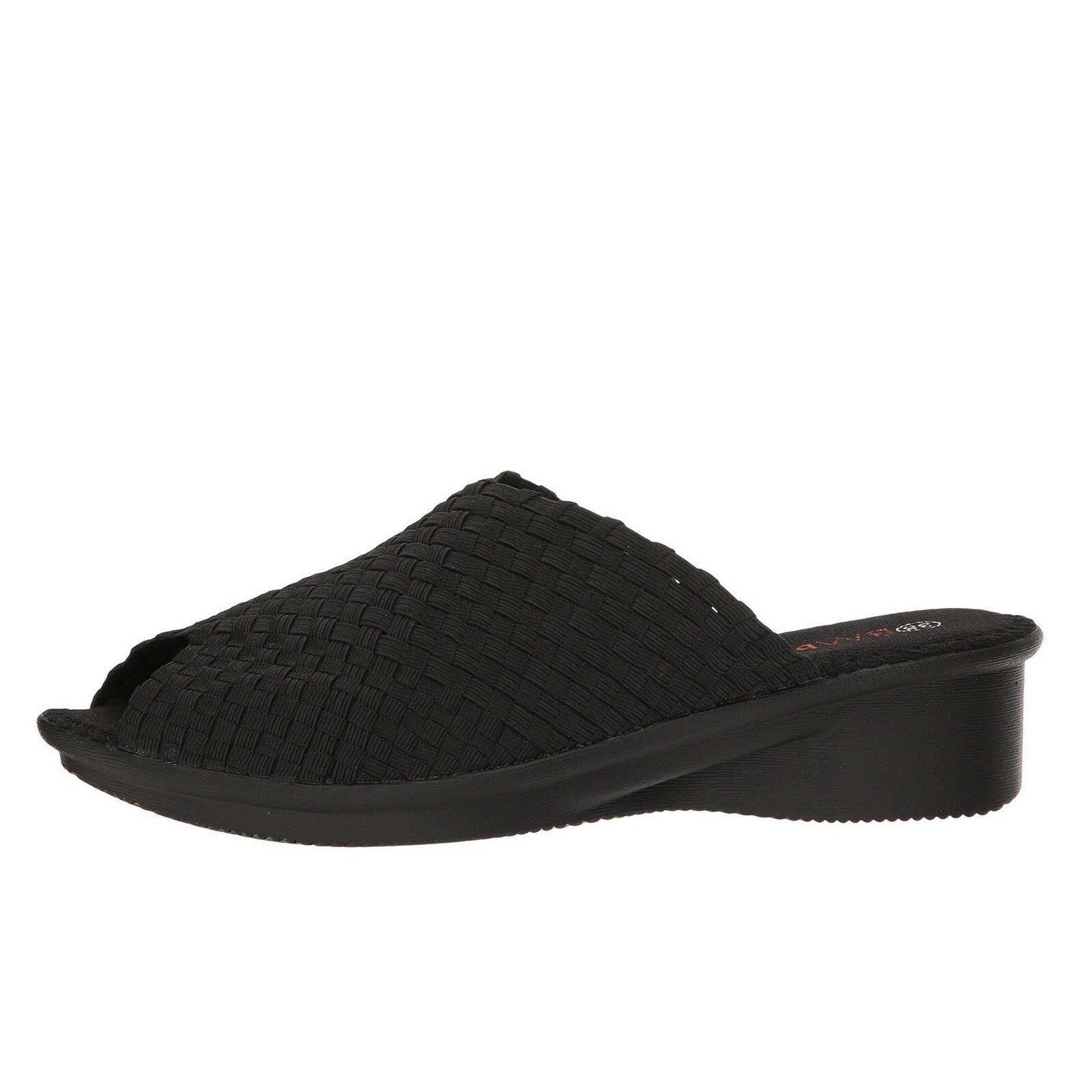 marchio in liquidazione Bernie Mev Cyrene nero Donna  Slip On On On Wedge Sandal  migliore vendita