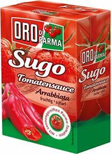 Oro-di-Parma-Sugo-Tomato-Sauce-Arrabbiata-8er-Pack-8-x-400-G