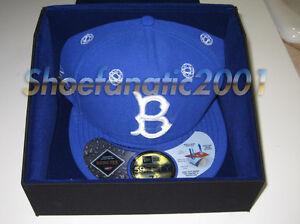 d245242c Details about New Era Futura Brooklyn Dodgers Fitted Gortex Hat 7 3/8  Autographed Union LA