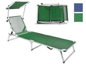 sonnenliege mit sonnendach sonnenblende strandliege gartenliege relaxliege 2598 ebay. Black Bedroom Furniture Sets. Home Design Ideas