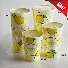 Multiple Sizes 500pack Disposable Paper Lemonade Print Cup Concession Stand