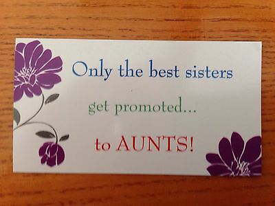 The Best Sisters Get Promoted To Aunts - Pregnancy Announcement Magnet