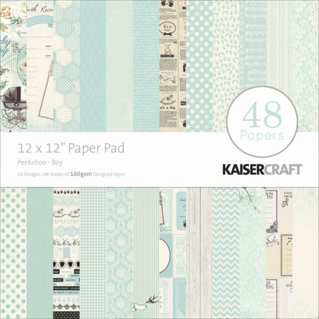 Kaisercraft /'GAME ON!/' 12x12 Paper Pad 48 Sheets Sports 24 Designs x2 KAISER