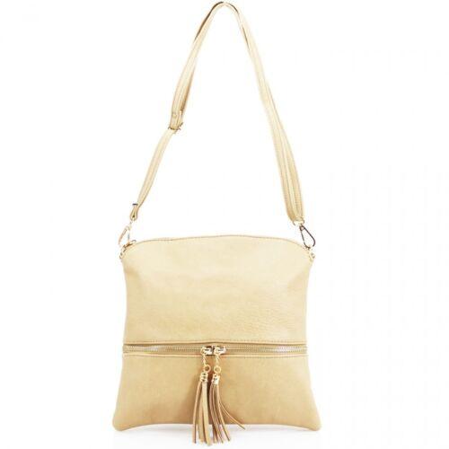 LeahWard® Women/'s Small Faux Leather Tassel Cross Body Handbags Nice Bags