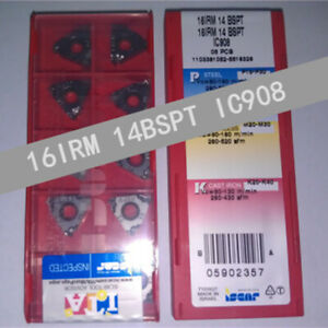ISCAR-16IRM-14BSPT-IC908-Threaded-blade-Carbide-Inserts-10Pcs