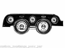 Mustang Instrument Cluster Gauges White Dash Face Kit 1967 1968 67 68 Eleanor GT