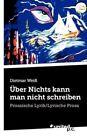 Ber Nichts Kann Man Nicht Schreiben by Vindobona Verlag (Paperback / softback, 2012)
