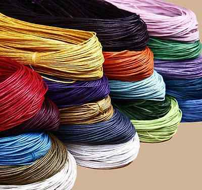 10Meter Waxed Cotton Cord Various Colours Lengths Available Jewelry Making 1mm