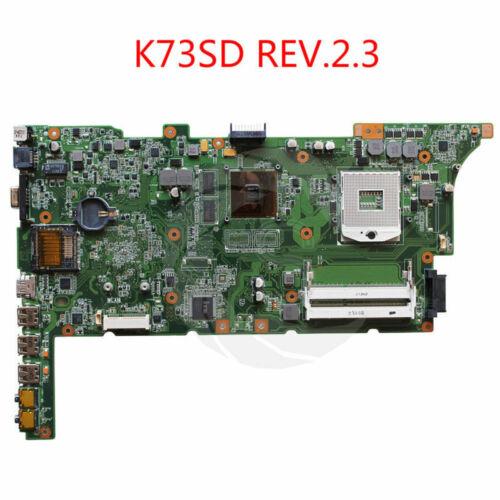 For Asus DDR3 GT520M HM65 REV 2.3 K73SM K73SD K73S K73SM Laptop Motherboard