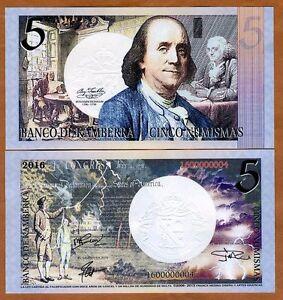 Kamberra-5-Numismas-2016-UNC-gt-Benjamin-Franklin-gt-New-Date