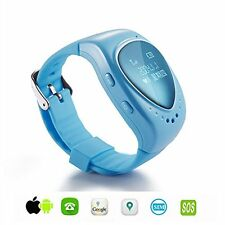 Spy GPS GSM Bracelet Watch Realtime Live Tracker Kids SOS Alarm Android IOS Blue