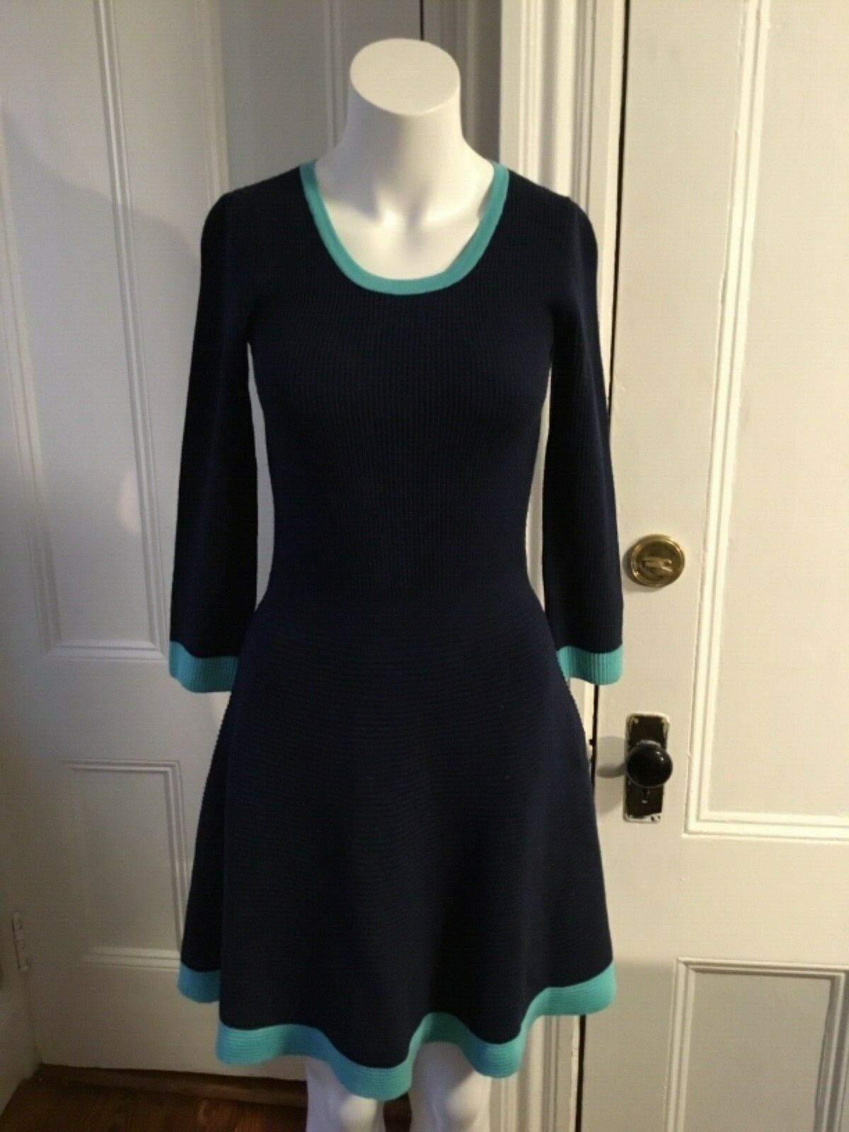 Lilly Pulitzer Dress Navy and Teal Größe S 100% Wool