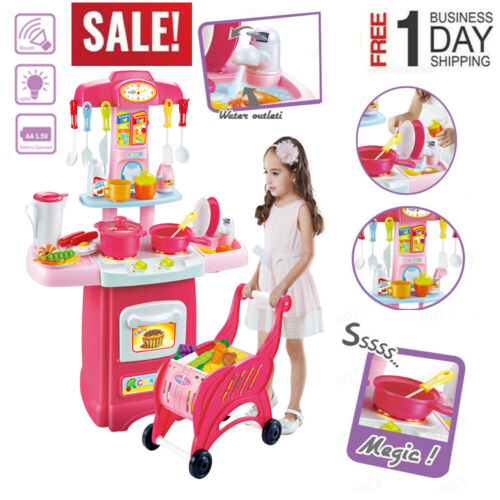 Electronic sound Set Shopping Simulated Toys Kitchen Kids Pretend Toy Play Set