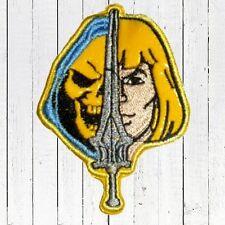 He-man & Skeletor Sword Embroidered Patch Head MOTU Cringer Masters Universe