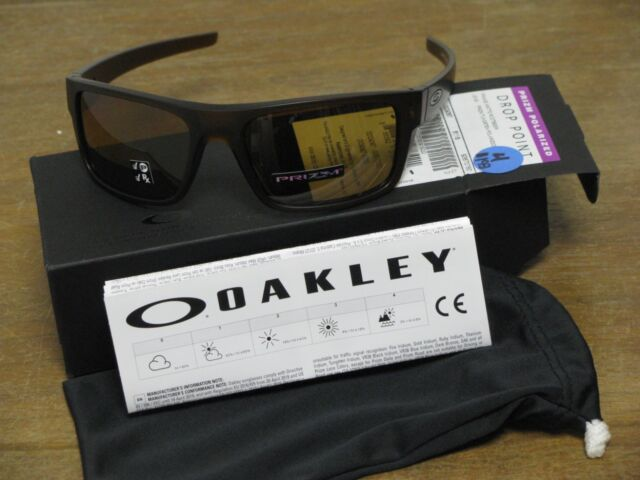 7ea7d4073a Oakley Drop Point Matte Rootbeer Prizm Tungsten Polarized Sunglasses NEW  w Xtras