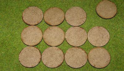 45mm x 60mm LASER CUT MDF 2mm Wooden Bases for Wargames