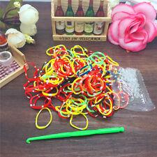 NEW 200pcs Mix Loom Rubber Band Refills Fit Rainbow kid bracelet S clips PT03