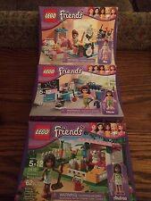 LEGO 3933 Olivia's Invent. Workshop 3938 Andrea's Bunny House 3939 Mia's Bedroom