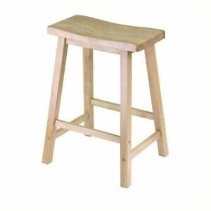 Winsome 94084 Wood Satori Saddle Seat Counter Stool 24 In Walnut