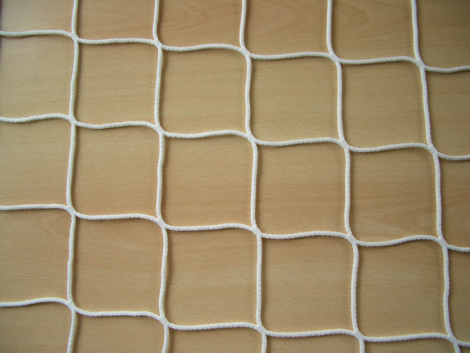Jugendfußballtornetz, Jugendtornetz, Tornetz Jugendtor 5x2m (80/150), 4mm, weiß