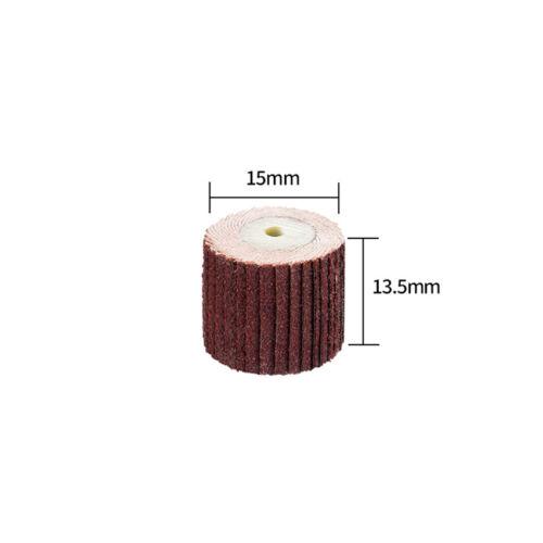 15mm Sanding Flap Wheel Sandpaer Disc 80-600 Grit for Metal Dremle Rotary Tool