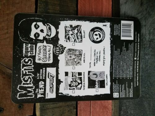 """The Misfits /""""Horror Business/"""" jaune Fiend Super 7 Reaction Figure Comme neuf on Card"""