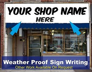 Shop Front Fascia Vinyl Graphic Signs Name Decals Sign Writing Size 3m x 0.6m